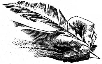 Image result for picture of nostradamus writing with quill in hand