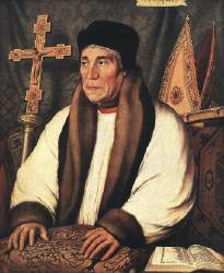 A portrait of Archbishop Warham