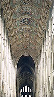 The nave of Ely Cathedral.