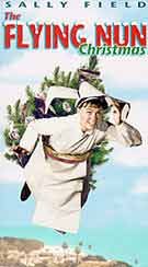 The Flying Nun, with a Christmas tree on her back.