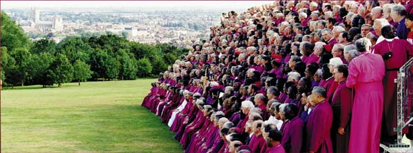 Bishops being photographed at Lambeth 1998