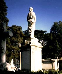 Tomb in the English Cemetery in Florence.