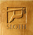 Sloth: a wood carving