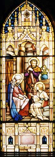 Stained glass from Church of the Holy Family in Columbus, Georgia