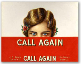 Call again - an old cigar box cover