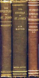 The spines of 19th-century theological books