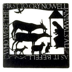 A card celebrating the nativity of Our Lord, by Eric Gill