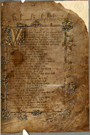 First page of a Chaucer manuscript