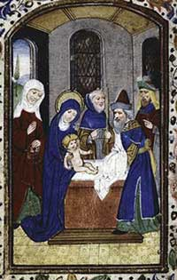 The circumcision of Christ.
