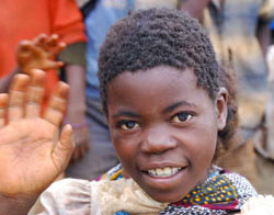 A child in Malawi
