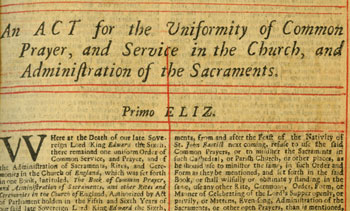 The Uniformity Act from our 1703 BCP