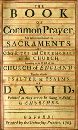 Title page to 1703 BCP