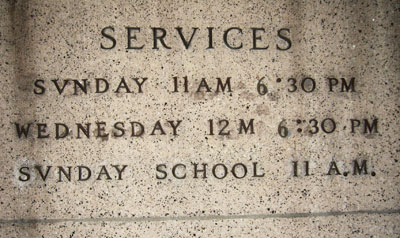 Service times carved in stone