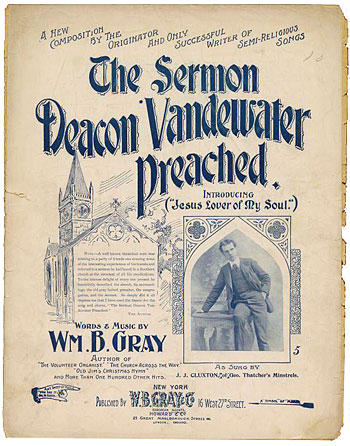 Cover of sheet muslc: The Sermon that Deacon Vanderwater Preached
