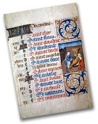 Calendar from a 15thc. Book of House