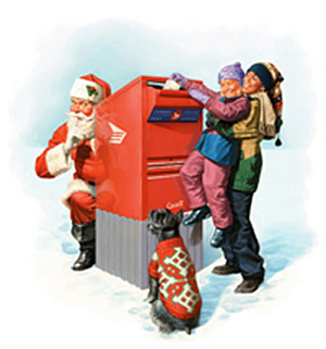 Mailing letters to Santa in the hope of an answer