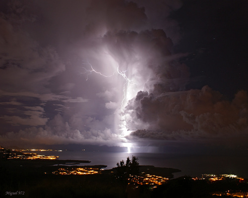 Lightning over Martinique