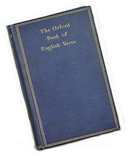 Picture of the cover of the Oxford Book of English Verse