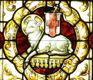 Our Lamb has conquered; let us follow. The Moravian seal.