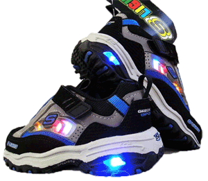 Shoes with LED lights