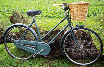 A Raleigh roadster bicycle