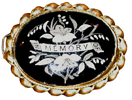 In Memory Of -- a brooch commemorating a loved one