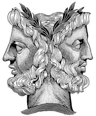 Janus facing forward and backward