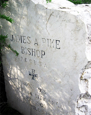 Bishop Pike's headstone