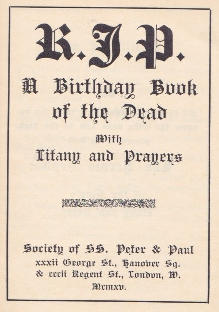 The Birthday Book of the Dead