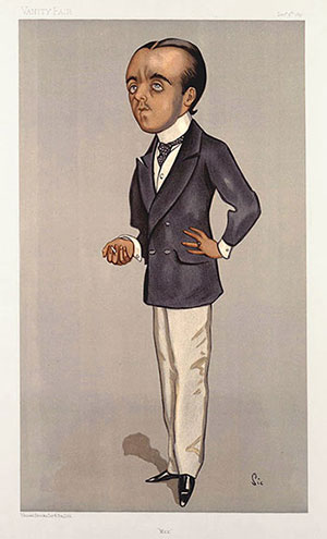 A Vanity Fair caricature of Max in 1897
