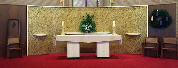 Altar and rood screen after I Advent service