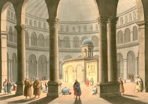 The Edicule in 1810 at its last restoration