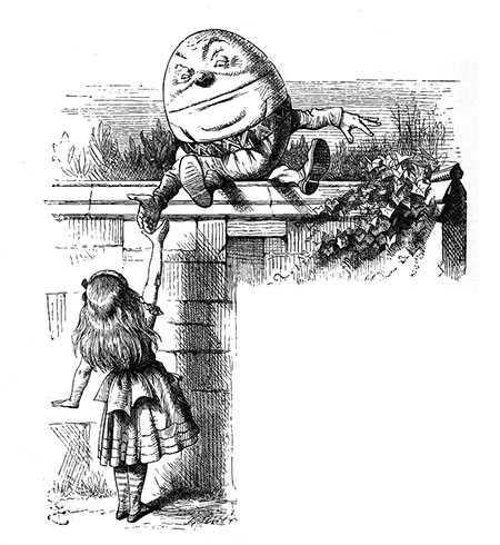 Humpty Dumpyty and Alice (Tenniel)