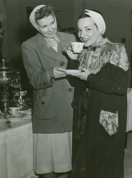 Carmen Miranda at coffee hour