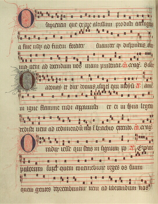 Page from the The Poissy Antiphonal